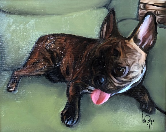 Sorry, a visual representation of Lee Colpi's work entitled, French Bulldog failed to load.  Please try again later or contact Lee Colpi for more information about this work.