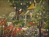larger image of the work, Cottage in the Glen