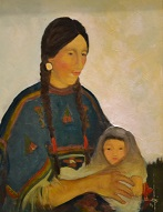larger image of the work, Mother and Child