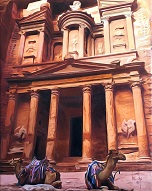 larger image of the work, Petra in Jordan