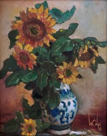 larger image of the work, Sunflowers