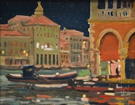 larger image of the work, Venice by Twilight