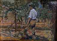larger image of the work, The Grape Vineyard